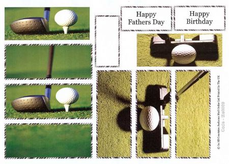 Golf Tile Greeting Card Craft Sheet